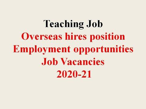 #Overcome  Internationa School  Teaching Job ||  Employment Opportunities || How To Apply || 2020