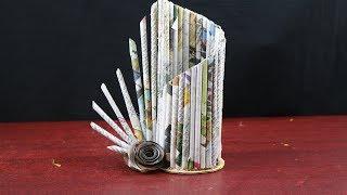 Amazing Paper Flower Vase | How to Make A Flower Vase At Home -Simple Paper Craft -DIY arts & crafts