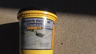 How Patch Ed Concrete Driveway Sidewalk Walkway Quikrete Patching Compound Review