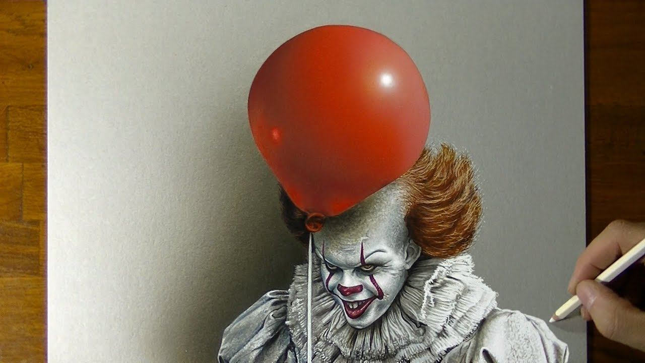 Drawing Pennywise The Clown From It Youtube