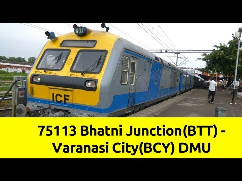 BTT-BCY DEMU Arrival and Departure at Lar Road Railway Station