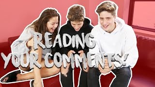 AJ MITCHELL + IVAN MARTINEZ =  ❤️  ?! | READING COMMENTS w/TESSA BROOKS & MARTINEZ TWINS