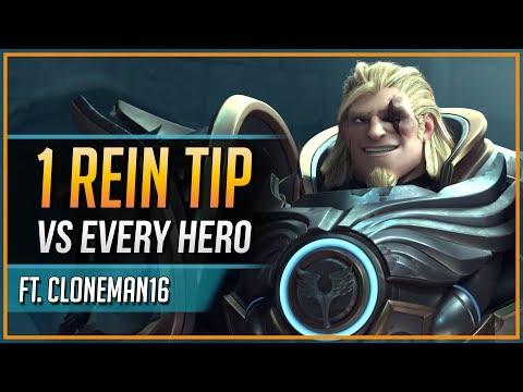 1 REINHARDT TIP for EVERY HERO ft. Cloneman16