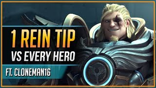 1 REINHARDT TIP for EVERY HERO ft. Cloneman16