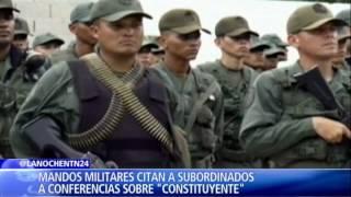 Nicolás Maduro adoctrina a militares y policías en medio de temor por deserción