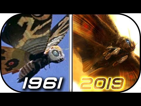 EVOLUTION of MOTHRA in Movies & TV 1961-2019 Godzilla king of monsters 2019 movie scene trailer 2