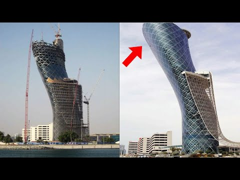 How Engineers made Impossible Tower in Abu Dhabi | Capital Gate Abu Dhabi