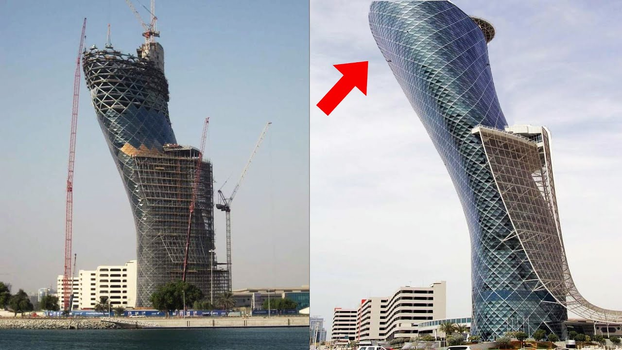 How Engineers made Impossible Tower in Abu Dhabi | Capital Gate Abu Dhabi