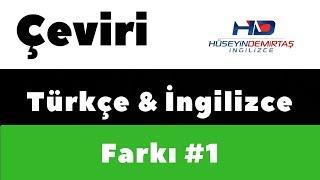 Türkçe İngilizce Çeviri Örneği & Sorusu