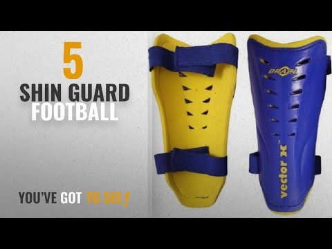 Top 10 Shin Guard Football [2018]: Vector X Brazil Shinpad, Small (Blue/Yellow)