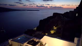 Experience the most beautiful sea views at dusk on Santorini from Esperas Hotel
