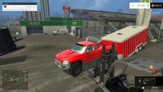 Farming Simulator 2015 Mods- 95 Dodge 12v Cummins, Suburban, and Trailers