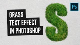 (2018) Photoshop CC Çim Metin Efekti Oluşturmak için nasıl - Urduca / Hintçe Öğretici