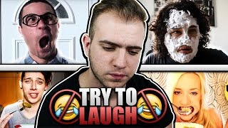 TRY TO LAUGH CHALLENGE | Έλληνες Youtubers Edition