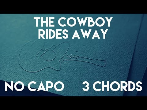 How To Play The Cowboy Rides Away by George Strait | No Capo (3 Chords) Guitar Lesson