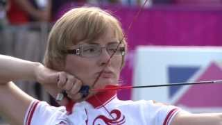 Archery - Brown (GBR) v Lyzhnikova (RUS) - Women's Ind. Compound Semifinal - London 2012