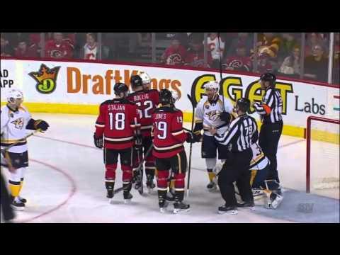 Predators @ Flames Highlights 01/27/16