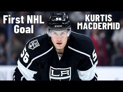 Kurtis MacDermid #56 (Los Angeles Kings) first NHL goal 26.10.2017