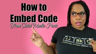 Embed Code HTML -  5 Social Media Posts You Didn