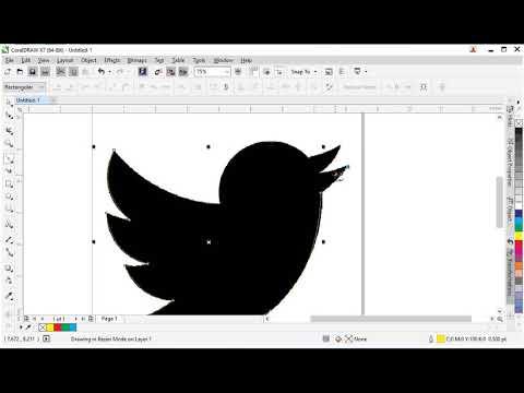 Hướng dẫn CorelDraw X7 – vẽ logo Twitter