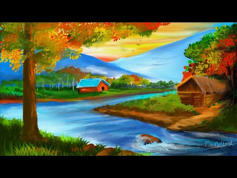 Landscape Digital Painting /oil painting /learn step by step
