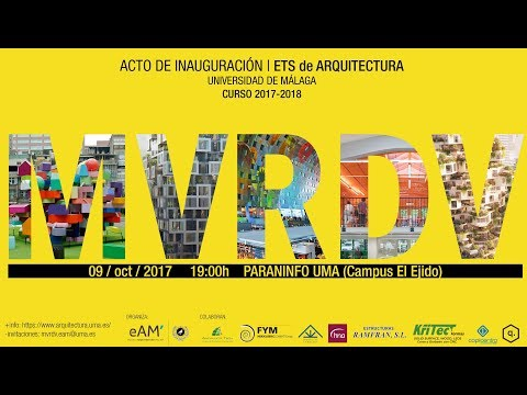Conferencia MVRDV (Jacob van Rijs), acto inauguración curso 2017/18 de la eAM' versión en español