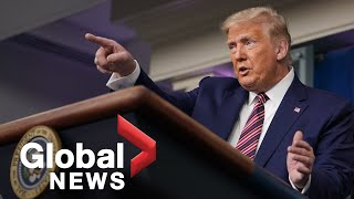 """Trump claims New York Times report on his tax returns is """"fake news"""""""
