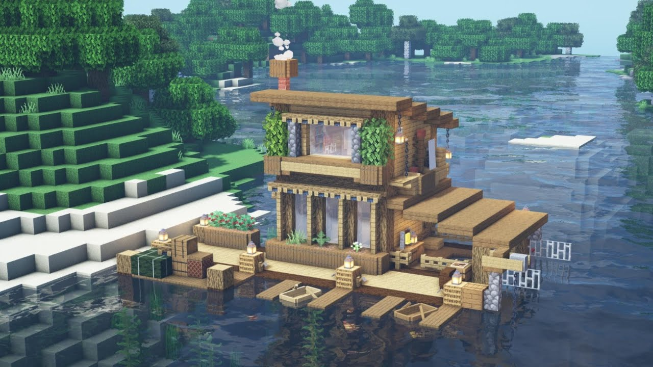 Minecraft - How to Build a Boat House Tutorial