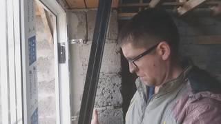 Установка пластивого окна своими руками одним человеком, на анкера и пластины