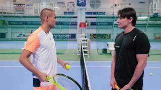Уроки тенниса с Михаилом Южным в ФИТНЕС-КЛУБЕ VITASPORT