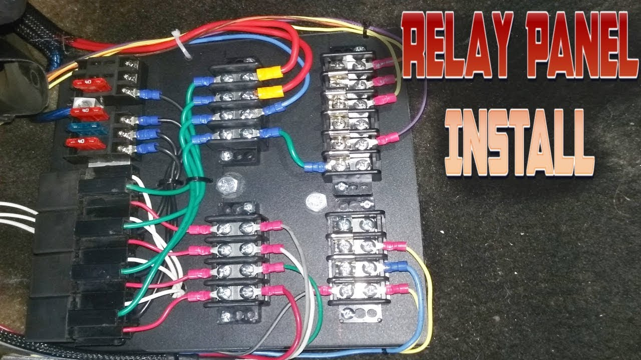car fuse panel box custom relay panel installation part 2 youtube