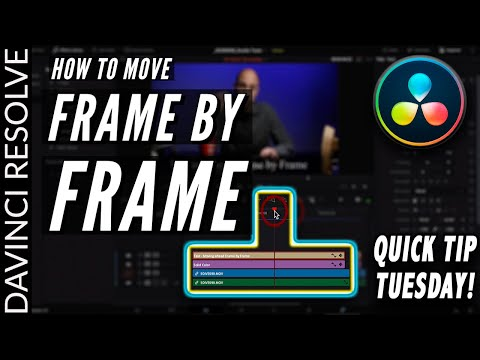 Move Frame by Frame in DaVinci Resolve 16 | Quick Tip Tuesday