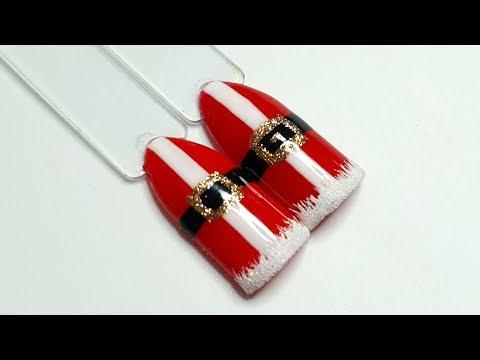#35 Christmas nail art tutorial. Santa outfit nails. Xmas nail art compilation thumbnail
