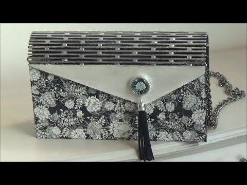 DIY wooden handbag decoupage/Ντεκουπάζ σε ξύλινη τσάντα
