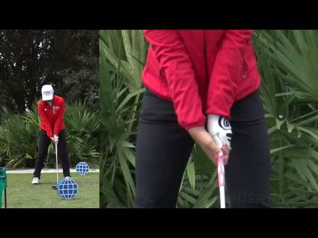 LYDIA KO - HANDS AT IMPACT (CLOSE UP SLOW MOTION) DRIVER SWING CME CHAMPIONSHIP TIBURON GOLF COURSE
