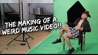 WEIRD MUSIC VIDEO (GREEN SCREEN) | Vlog #135