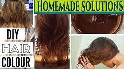 "HOW I ACHIEVED ""BROWN HAIR COLOR"" 110% NATURAL & HOMEMADE HAIR DYE URDU HINDI"