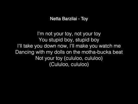 Netta Barzilai - Toy Lyrics Winner ! Eurovision Song Contest 2018