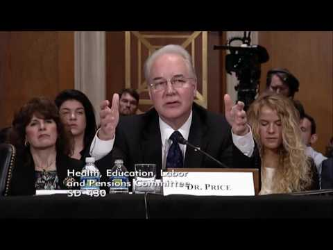 Sen. Rand Paul at Dr. Price HHS Sec. Nomination Hearing - 1/18/17