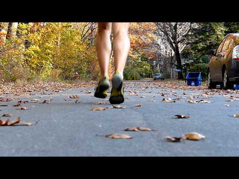 Running Form in Slow Motion - Pronation View in Multiple Shoes