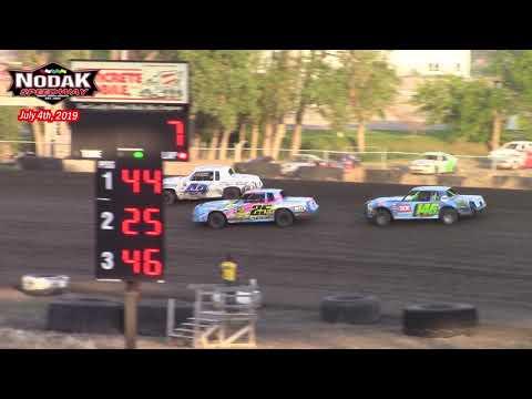 Nodak Speedway IMCA Hobby Stock A-Main (7/4/19)