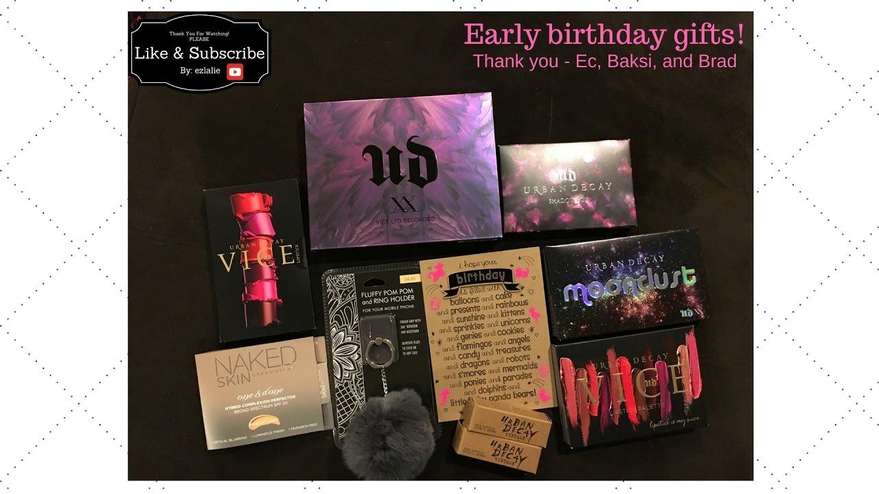 urban decay birthday gift URBAN DECAY | EARLY BIRTHDAY GIFT! | Vlog #7   YouTube urban decay birthday gift
