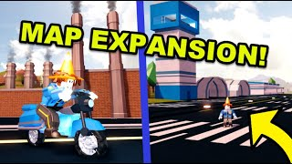 Jailbreak Map EXPANSION Update! (Roblox Alien Mode, Police Motorcycle, New Factory, Airport, Patrol)