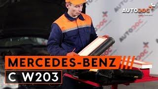 Hogyan cseréljünk Légszűrő MERCEDES-BENZ C-CLASS (W203) - online ingyenes videó