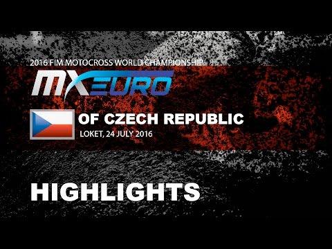 EMX85 Race 1 Highlights Round of Czech Republic 2016