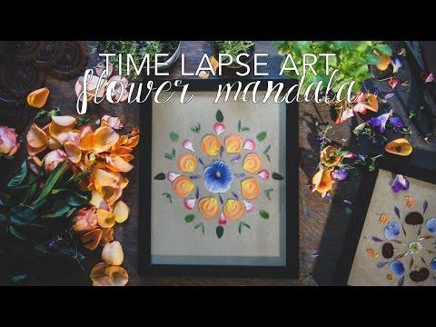 Time Lapse Art: Creative Meditation (Flower Mandala)