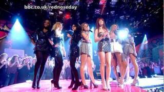 Girls Aloud VS Sugababes - Walk This Way (Live @ Comic Relief 16/03/2007)