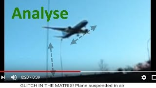 "In der Luft stehendes Flugzeug enträtselt - Analyse von ""GLITCH IN THE MATRIX! Plane suspended in ai"