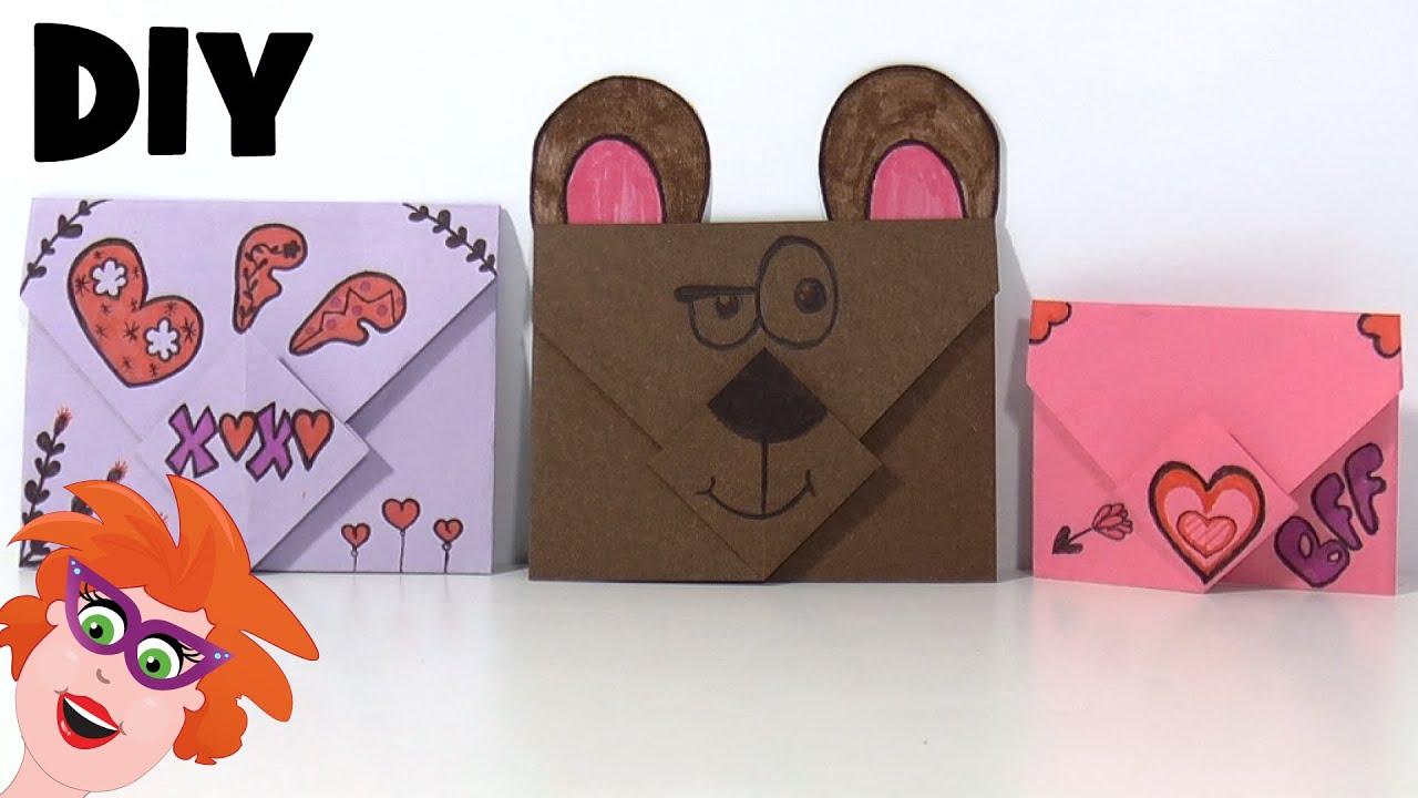 Diy zelf enveloppen maken vouwen van papier youtube for Dingen voor moederdag