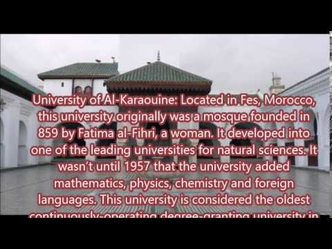 The oldest universities in the world - University of Al-Karaouine